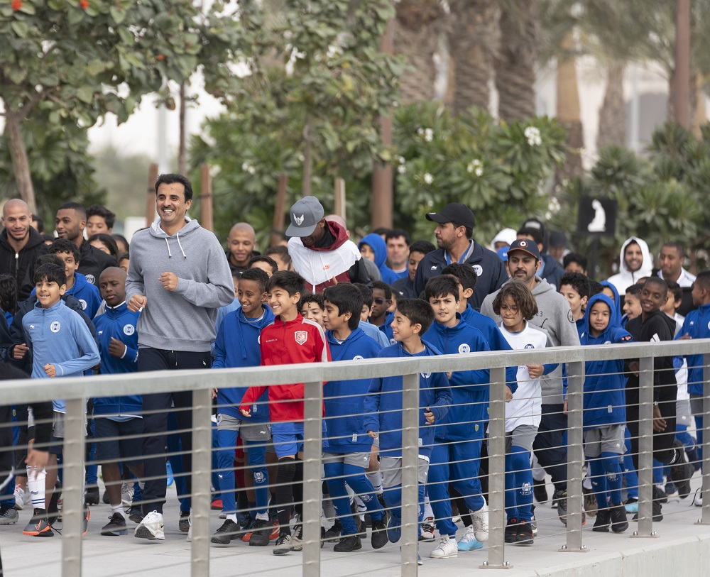 HH the Amir Participates in National Sport Day Activities