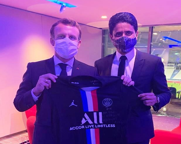 Al Khelaifi presents Macron PSG's new jersey