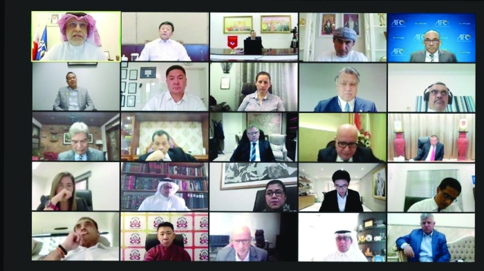 The AFC Executive meeting held online