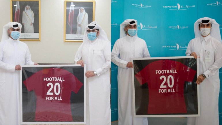 """Football for All Award"" presented to Qatar Red Crescent and Aspetar Hospital"