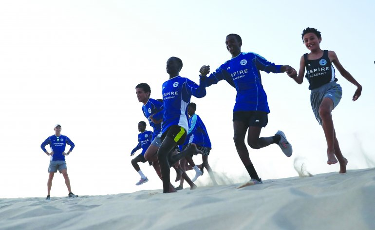Student athletes during the endurance camp held at Sealine