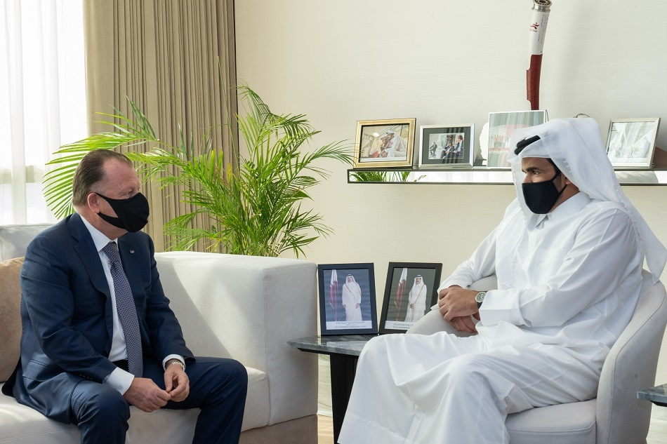 Sheikh Joaan bin Hamad meets President of International Judo Federation